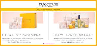 l occitane free bonus gifts with