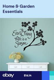 To Everything There Is A Season Vinyl Decal Wall Art Stickers Letters Words Decal Wall Art Sticker Art Vinyl Wall Decals