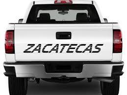 For Zacatecas Mexico Truck Decal Sticker Tailgate For Chevy Silverado Gmc Sierra 90 S 454ss Style Lettering Car Stickers Aliexpress