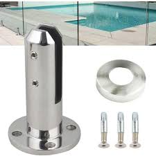 Lukloy 304 Stainless Steel U Clamp Support Bracket Floor Mount Posts For Frameless Glass Panels Glass