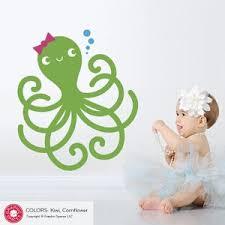 Happy Octopus Wall Decal Ocean Baby Underwater Nursery Cute Etsy
