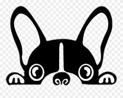 Frenchie Decal Boston Terrier Stickers Clipart 1359754 Pinclipart