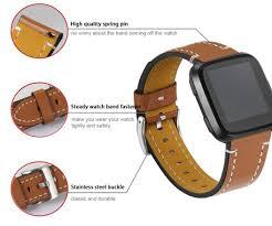 best fitbit versa leather strap