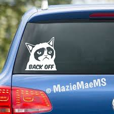 Back Off Grumpy Cat Custom Car Window Sticker Car Decal Etsy