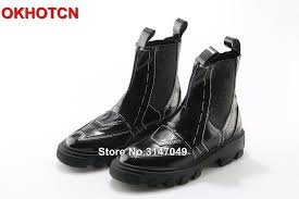 new patent leather boots women 2019