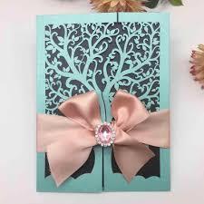 1 Piezas Chic Arbol Boda Invitaciones Tarjetas Romantico Para La