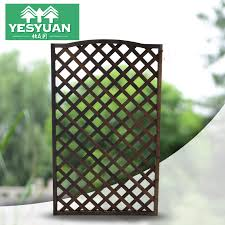 Wooden Screens Cut Off The Xuanguan Wood Fence Wooden Grid Flower Rack Carbid Wood Fence Garden Fence Climbing Rattan Frame Guardrail