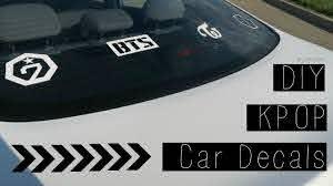 Diy Kpop Car Decals Ft Exo Bts Twice Got7 Heyimvicky Youtube