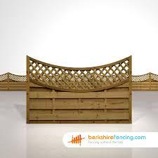 Concave Lattice Top Fence Panels 4ft X 6ft Brown Berkshire Fencing