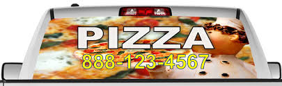 Rear View Window Graphic Decal Sticker Pizza Delivery 4 Bannersinvinyl Com