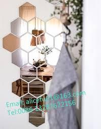 decorative wall hexagon mirror tiles
