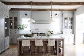 kitchen brass barn pendants design ideas
