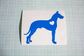 Great Dane With Heart Dog Iphone Car Laptop Vinyl Decal Etsy