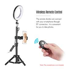 led ring light with stand camera photo