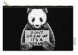 trap quotes panda carry all pouch for by turi cinta