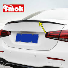 For Mercedes Benz A Class W177 V177 A180 A200 A220 A250 2019 Car Trunk Tailplane Calming Wind Disturbed Flow Sticker Accessory Aliexpress