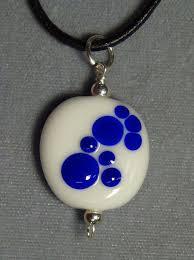 psu cat paw dog paw pendant white blue