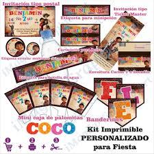 Coco Miguel Kit De Imprimibles Para Fiesta Personalizados Mesa De