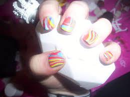 swirl nail art using water how to