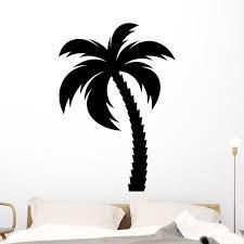 Single Black Palm Tree Wall Decal Wallmonkeys Peel And Stick Graphic 48 In H X 48 In W Wm502542 Walmart Com Walmart Com