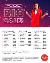 AirAsia BIG Sale / Free Seat 2019 is back! (16-23 June 2019)