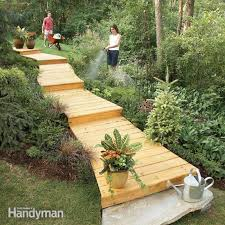 cool diy garden path ideas wooden