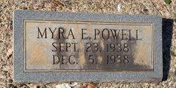 Myra E. Powell (1938-1938) - Find A Grave Memorial