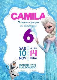 Tarjeta Invitacion Frozen Digital Cumpleanos 160 00 En Mercado