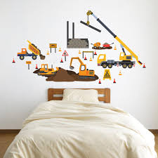 Construction Site Truck And Vehicle Wall Decals Eco Friendly Wall Sti