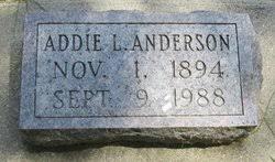 """Adaline L. """"Addie"""" Johnston Anderson (1894-1988) - Find A Grave Memorial"""
