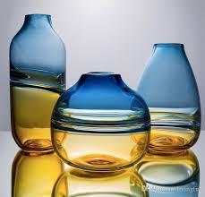luxury hand blown art glass vases