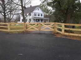 3 Rail Paddock Style Fence With Driveway Gate All Pressure Treated Ketcham Fenceketcham Fence
