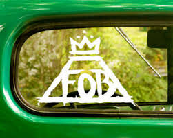 2 Fall Out Boy Decal Stickers For Car Window Bumper Truck Laptop Jeep Rv Ebay