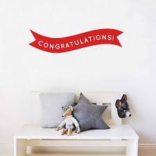 Stizzy Wall Decal Congratulations Banner Art Wall Stickers Gift Modern Design Children S Room Decor Muraux Removable Poster A739 Wall Stickers Aliexpress