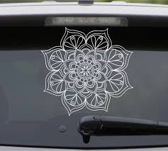 Yoga Mandala Lotus Flower Wall Decal Removable Vinyl Wall Sticker Car Window Poster Sweet Home Door Decal Decors Vinyls S 366 Window Posters Decorative Vinylvinyl Wall Stickers Aliexpress