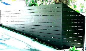 corrugated metal privacy fence cost how