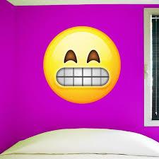 Smiling Emoji Wall Sticker 28 H X 28 W Large Emoji Wall Decal 04 Wall Decal Studios Com