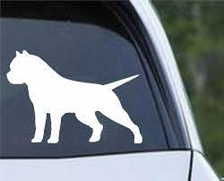 American Bully Pit Bull Dog Silhouette Die Cut Vinyl Decal Sticker Decals City