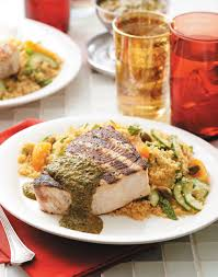 Grilled Swordfish with Chermoula Sauce ...