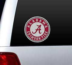 Amazon Com Alabama Crimson Tide Die Cut Window Film Large Sports Fan Decals Sports Outdoors