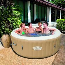 lazy river inflatable hot tub