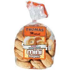 thomas whole grain mini bagel 10