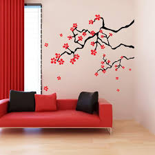 Japanese Spring Cherry Blossom Branches Wall Decals Stickers Decall Ca