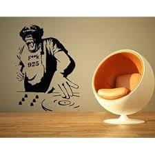 Aratikdesigns Wall Room Decor Art Vinyl Sticker Mural Decal Chimp Dj Monkey Edm Music Big Large As674