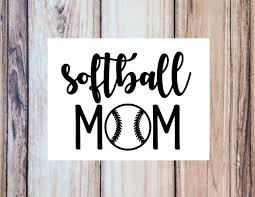 Softball Mom Vinyl Decal Cup Decal Tumbler Water Bottle Etsy