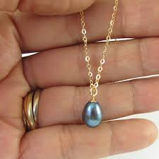black pearl pendant necklace pearl