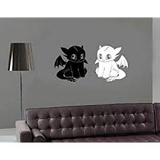 Amazon Com Decal Sticker How To Train Your Dragon Wall Decal Toothless Wall Sticker Toothless Vinyl Decal For Kids Room Custom Color Kbms0122 Home Kitchen