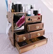 1pcs large capacity wooden cosmetics