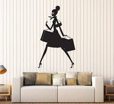 Amazon Com A Top Decals Large Vinyl Wall Decal Shopping Woman Mall Shop Store Business Stickers Large De Home Kitchen