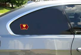 Iowa Heart State Shaped Sticker U S Custom Stickers